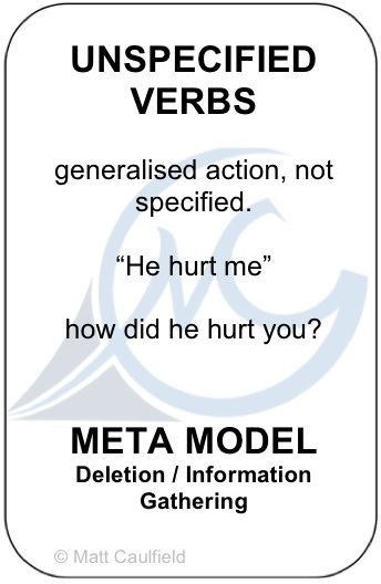 Unspecified Verbs