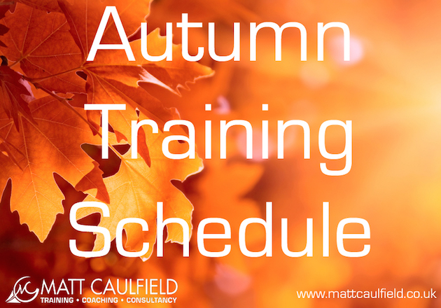 Autumn NLP and Coaching Training Schedule 2015