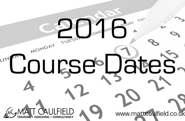 2016 Course Dates