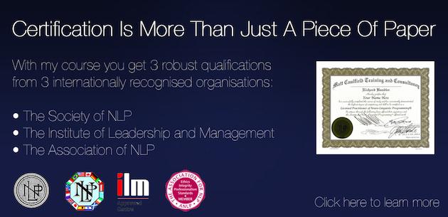 NLP Certification Standards | NLP Training from Matt ...