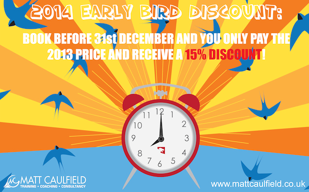 EARLY BIRD DISCOUNT 2014