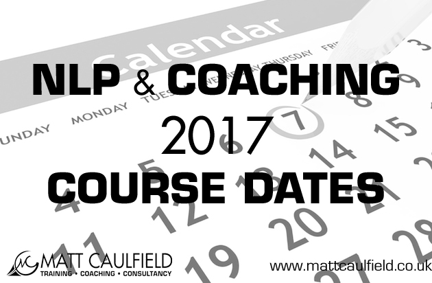 2017 NLP and COACHING Course Dates